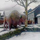 Wisent Sculpture by Benedikt Amrhein
