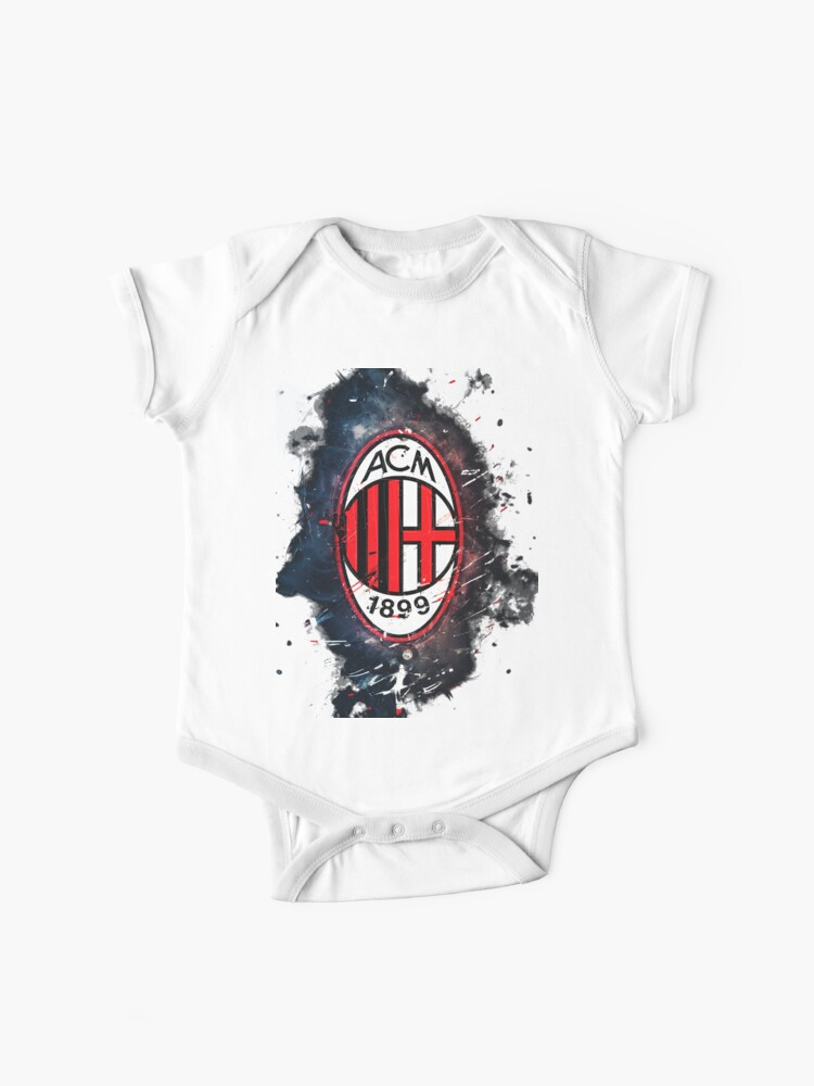 A C Milan Baby One Piece By Senich Image Redbubble