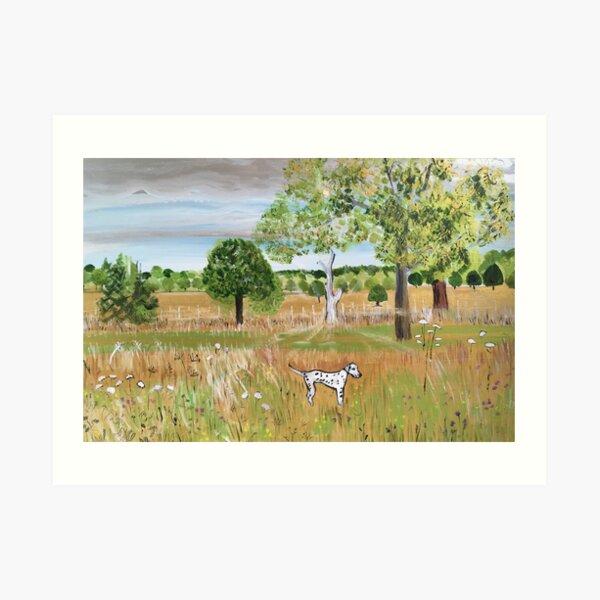 Walking in Fields of Gold Art Print