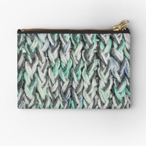 The Soft and Speckled Knit Stitch  Zipper Pouch