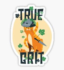 True Grit Cat Sticker