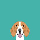 Beagle dog head cute pet portrait beagles lovers pure breed dog gifts by PetFriendly