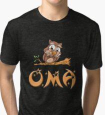 Oma Owl Tri-blend T-Shirt