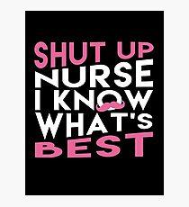 MARKIPLIER : SHUT UP NURSE I KNOW WHAT'S BEST !! Photographic Print