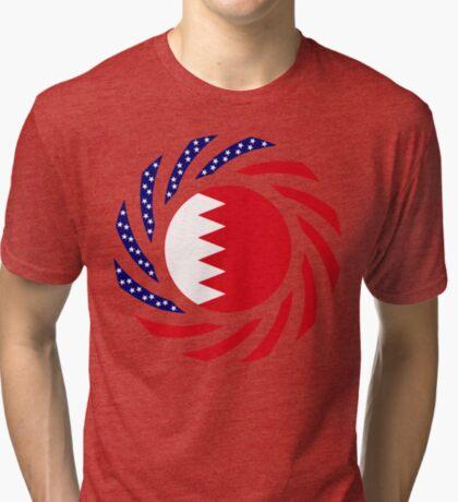 Bahrain American Multinational Patriot Flag Series Tri-blend T-Shirt