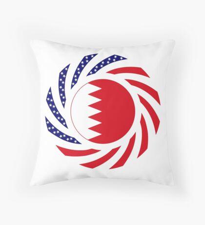 Bahrain American Multinational Patriot Flag Series Throw Pillow
