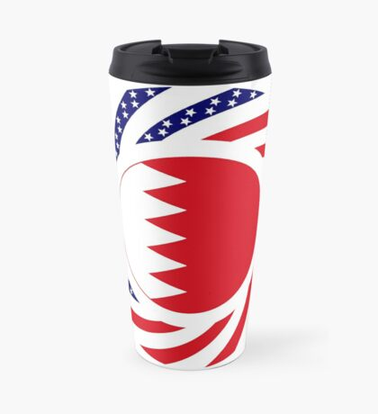Bahrain American Multinational Patriot Flag Series Travel Mug