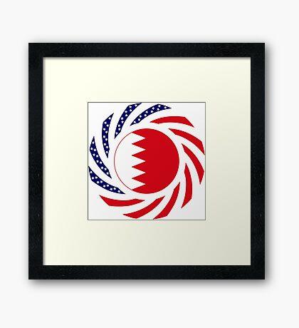 Bahrain American Multinational Patriot Flag Series Framed Print