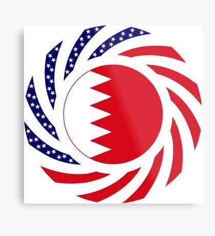 Bahrain American Multinational Patriot Flag Series Metal Print