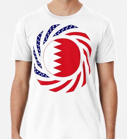Bahrain American Multinational Patriot Flag Series Premium T-Shirt