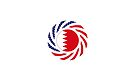 Bahrain American Multinational Patriot Flag Series by Carbon-Fibre Media