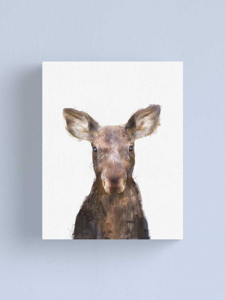 Alternate view of Little Moose Canvas Print