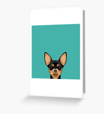 Chihuahua dog head pet portrait cute pet art chiwawas dog breed pure breeds Greeting Card