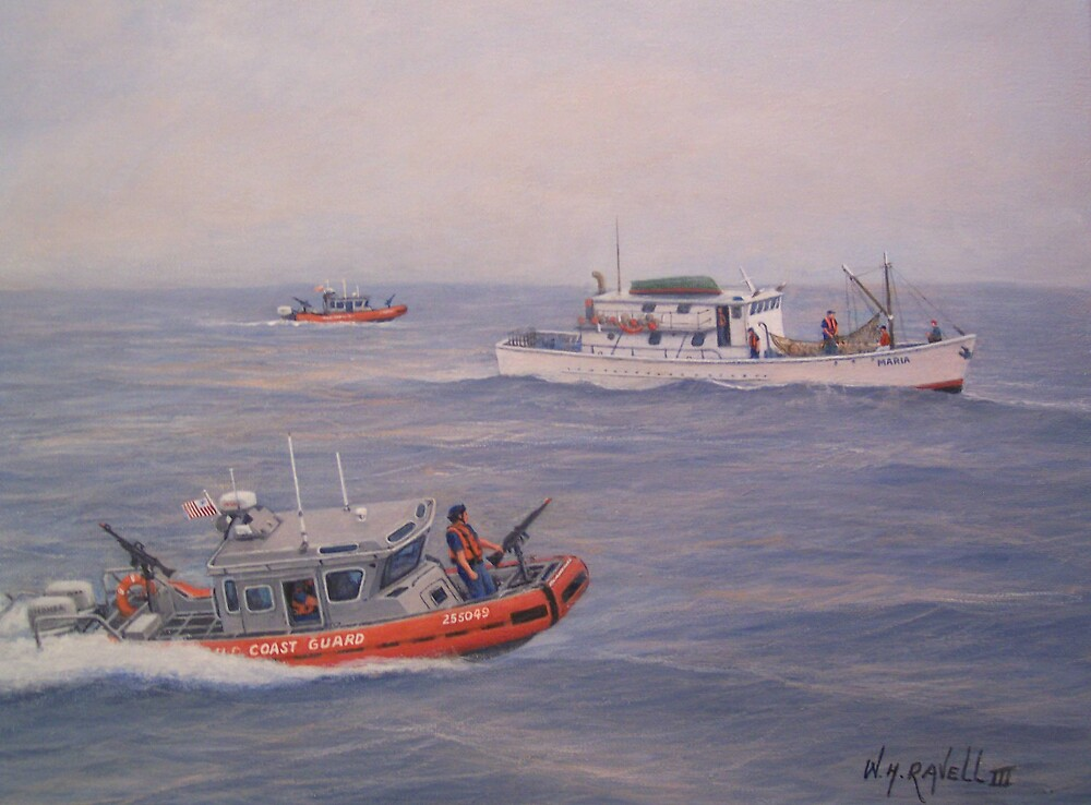 Coast Guard Nets Catch Of The Day by William H. RaVell III