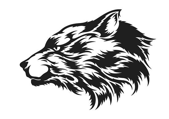 Silueta Lobo: Pósters «Silueta Lobo Insignia» De Wings-of-rage