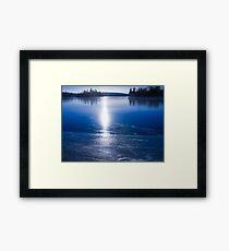Freezing Up Framed Print