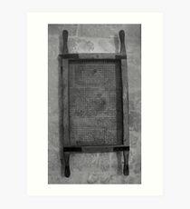 Old sieve Art Print