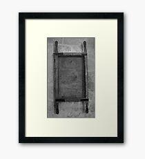 Old sieve Framed Print
