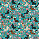 Dachshund dog breed floral pure breed weener dogs doxie dachsie must have by PetFriendly