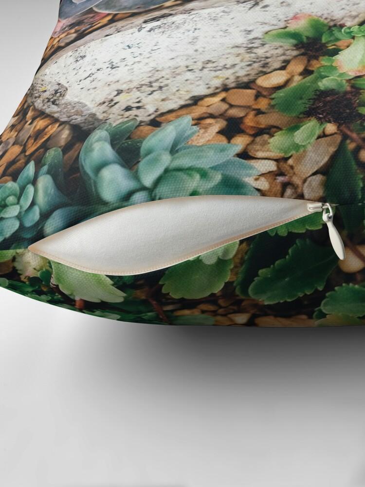 Alternate view of Succulent plants throw pillow Throw Pillow