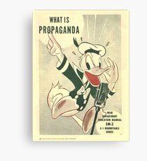 Donald Duck- Commando Propaganda WW2 Canvas Print