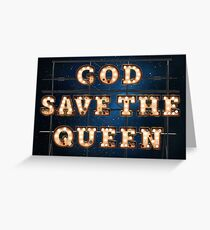 God save the Queen - Wall Greeting Card
