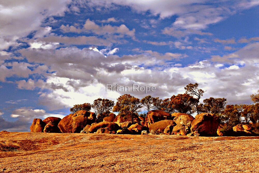Above Wave Rock by Brian Rope