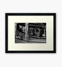 Children Fairground - Blackburn a Town and Its People Framed Print