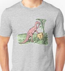 Watercolor Dinosaurs | Prehistoric Paleoart Scene | Dino Art Unisex T-Shirt