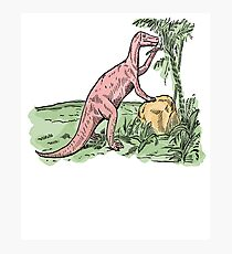 Watercolor Dinosaurs | Prehistoric Paleoart Scene | Dino Art Photographic Print