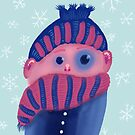Freezing Kid With Hat And Scarf by Boriana Giormova