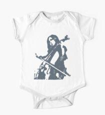 Child Cello Musician Block Print One Piece - Short Sleeve