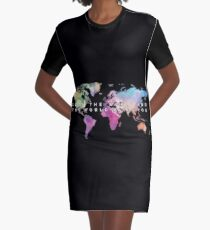 Love the world and the world loves you T-Shirt Kleid