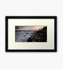 Slippery Rocks Framed Print