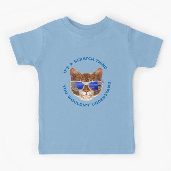 Scratch Programming Cat Kids T-Shirt