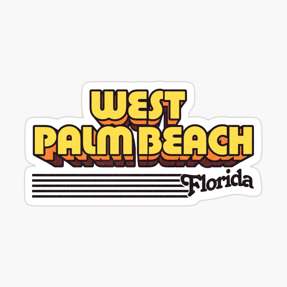 West Palm Beach, Florida | Retro Stripes Sticker