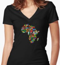 Spirit of Africa Women's Fitted V-Neck T-Shirt