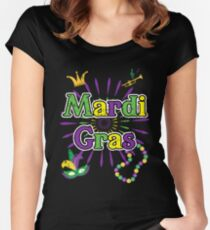 8e67dcd2 Mardi Gras 2018 Funny Party New Orleans Shirt Women's Fitted Scoop T-Shirt