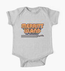 Merritt Island, Florida | Retro Streifen Baby Body Kurzarm