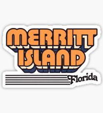 Merritt Island, Florida   Retro Stripes Sticker