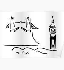 London tower bridge big ben Poster