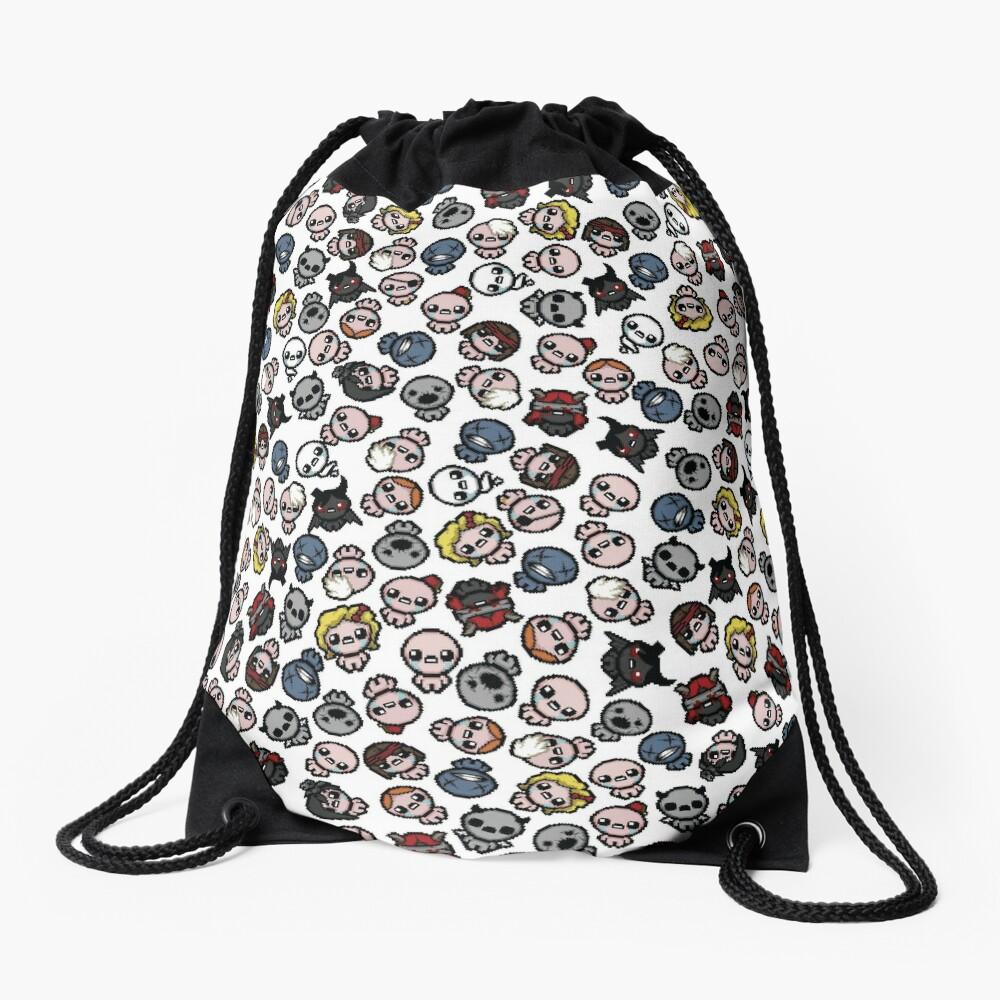 The Binding of Isaac characters pattern + Drawstring Bag