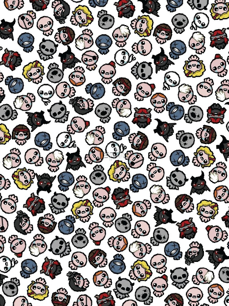 The Binding of Isaac characters pattern + by spilu