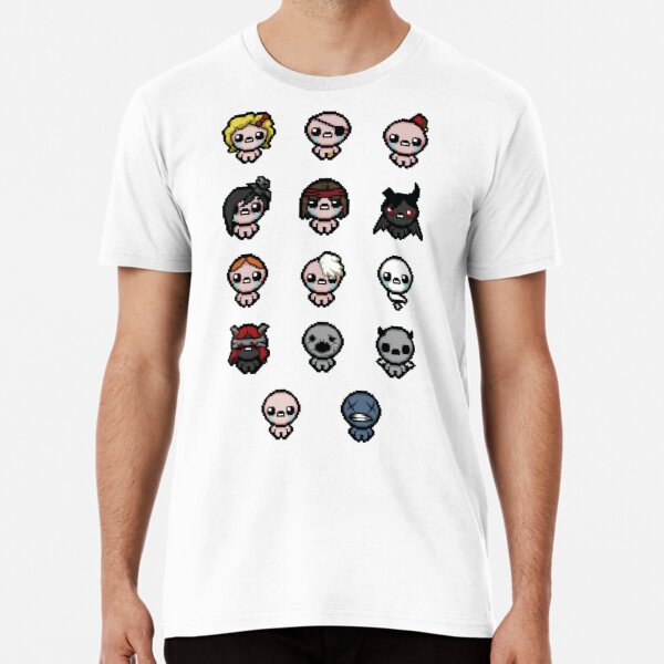 The Binding of Isaac characters + Premium T-Shirt