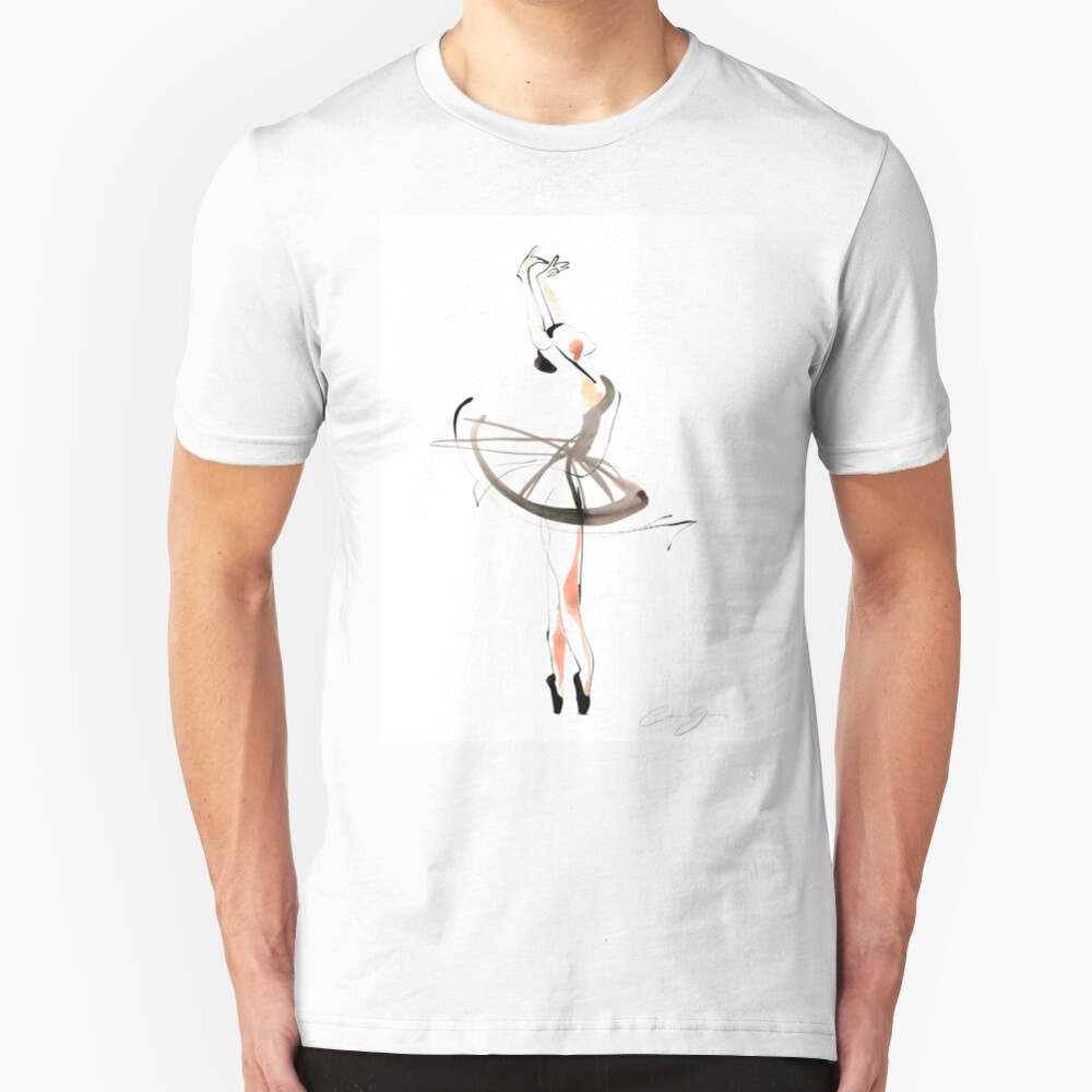 Ballet Dance Drawing Slim Fit T-Shirt