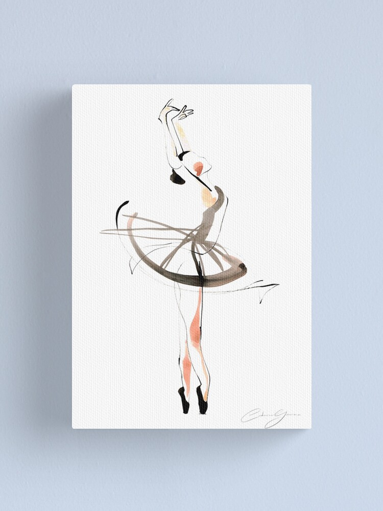 Alternate view of Ballet Dance Drawing Canvas Print