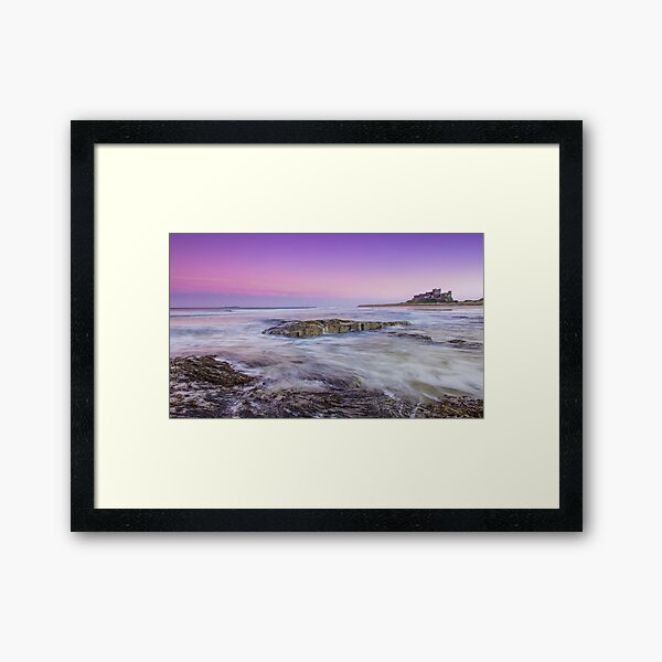 Bamburgh Sunset Framed Art Print