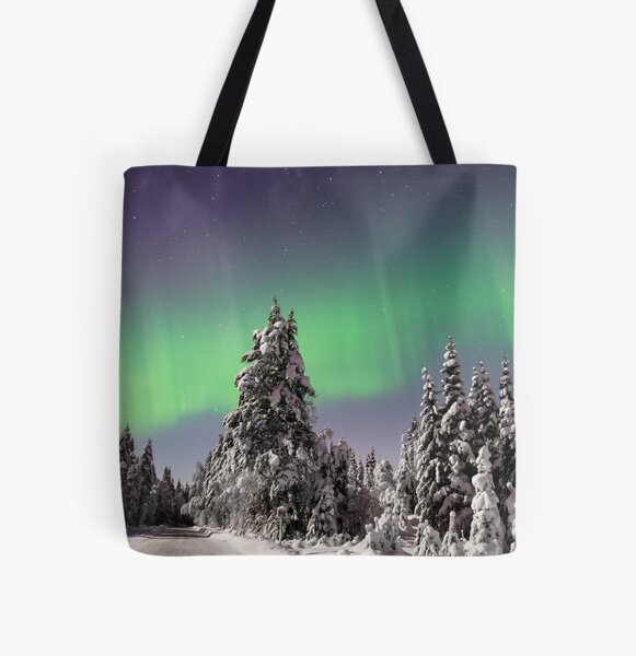 Lady Aurora All Over Print Tote Bag