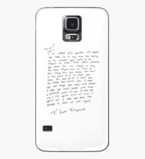 F. Scott Fitzgerald- Never Too Late Case/Skin for Samsung Galaxy