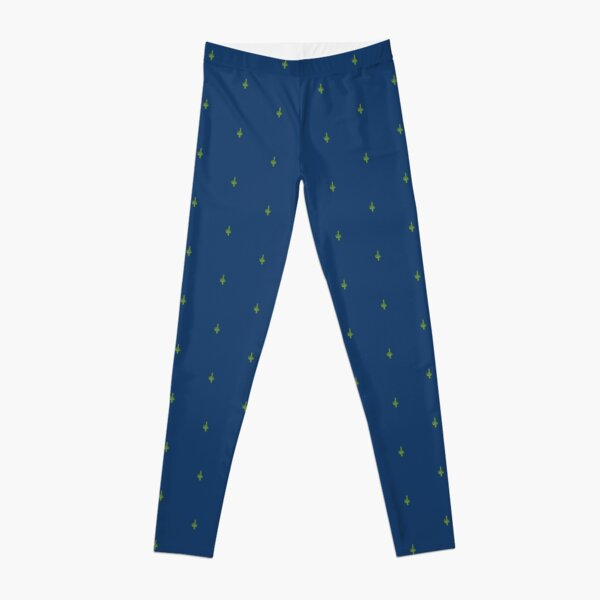 Succ It - Cute But Rude Cactus - Dark Blue - Tiled Leggings